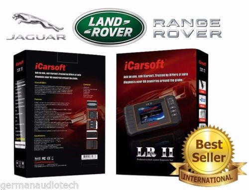 New iCARSOFT LRII LAND RANGE ROVER JAGUAR OBD2 DIAGNOSTIC SCANNER TOOL ERASE FAULT CODES