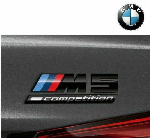 Genuine BMW M5 Competition Package Gloss Black Rear Trunk Decal Badge 51148078714
