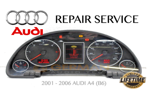 REPAIR SERVICE for AUDI A4 B6 INSTRUMENT SPEEDOMETER CLUSTER FADING DASH 2002-2006