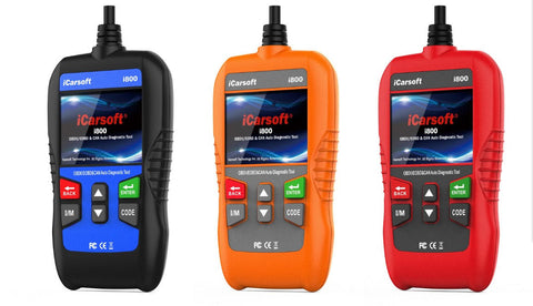 iCARSOFT i800 OBD2 EOBD CAR TRUCK DIAGNOSTIC SCANNER TOOL ERASE FAULT CODES ABS SRS CEL
