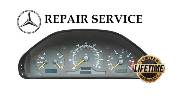 Pixel Display Repair Service for Mercedes-Benz W202 W208 W210 Instrument Speedometer Cluster
