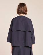 Load image into Gallery viewer, Model wears Kloke Amend Jacket in Ink, back. Available at FAWN Toronto.