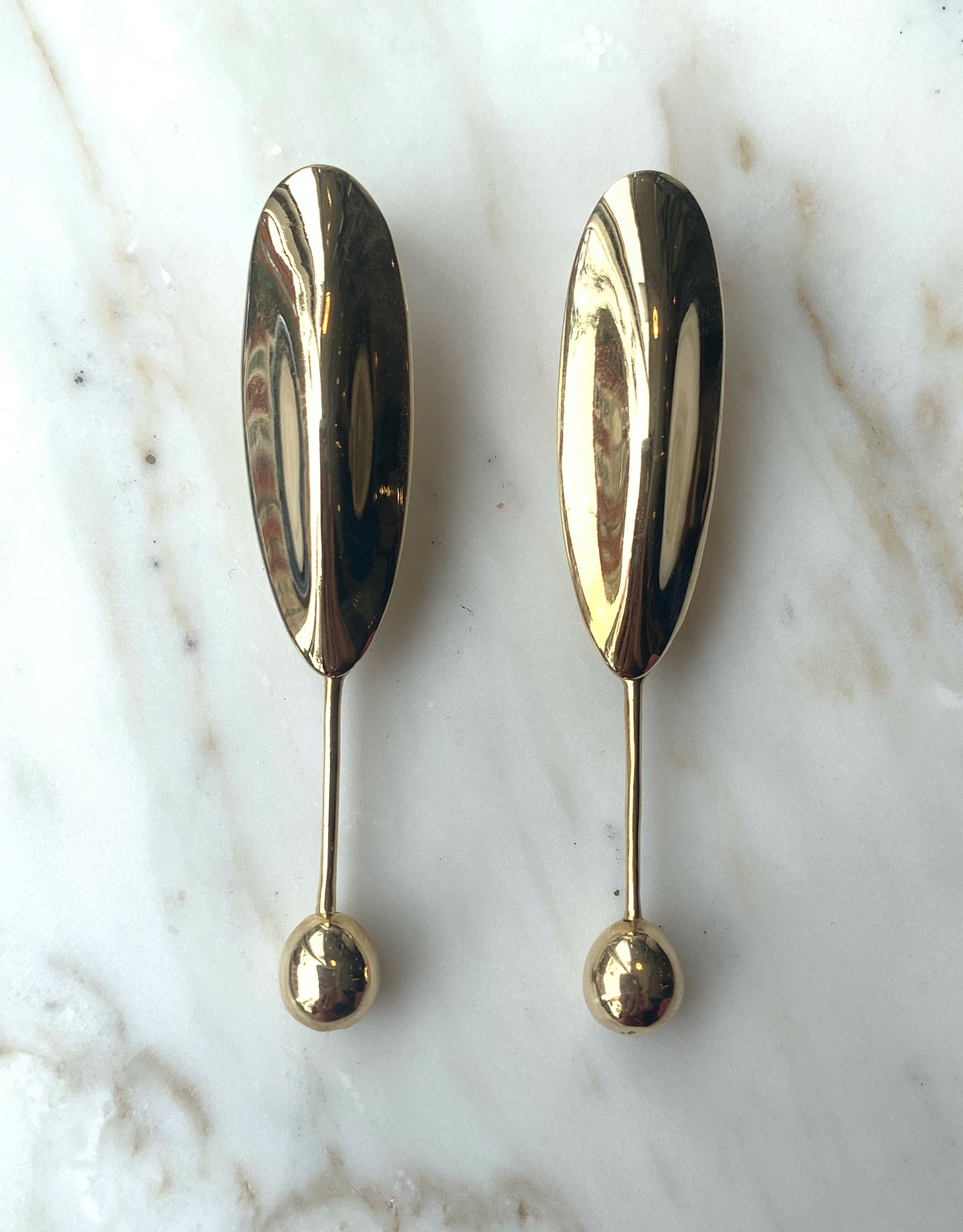 Quarry brass Duras Earring. Available at FAWN Toronto.
