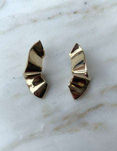 Quarry brass Elba Earring. Available at FAWN Toronto.