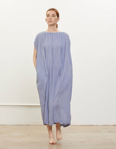 Model wears Black Crane Mont Blanc Dress in Lavender. Available at FAWN Toronto.