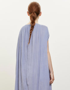 Model wears Black Crane Mont Blanc Dress in Lavender, back detail. Available at FAWN Toronto.