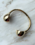 Load image into Gallery viewer, Quarry brass Opis Cuff, top. Available at FAWN Toronto.