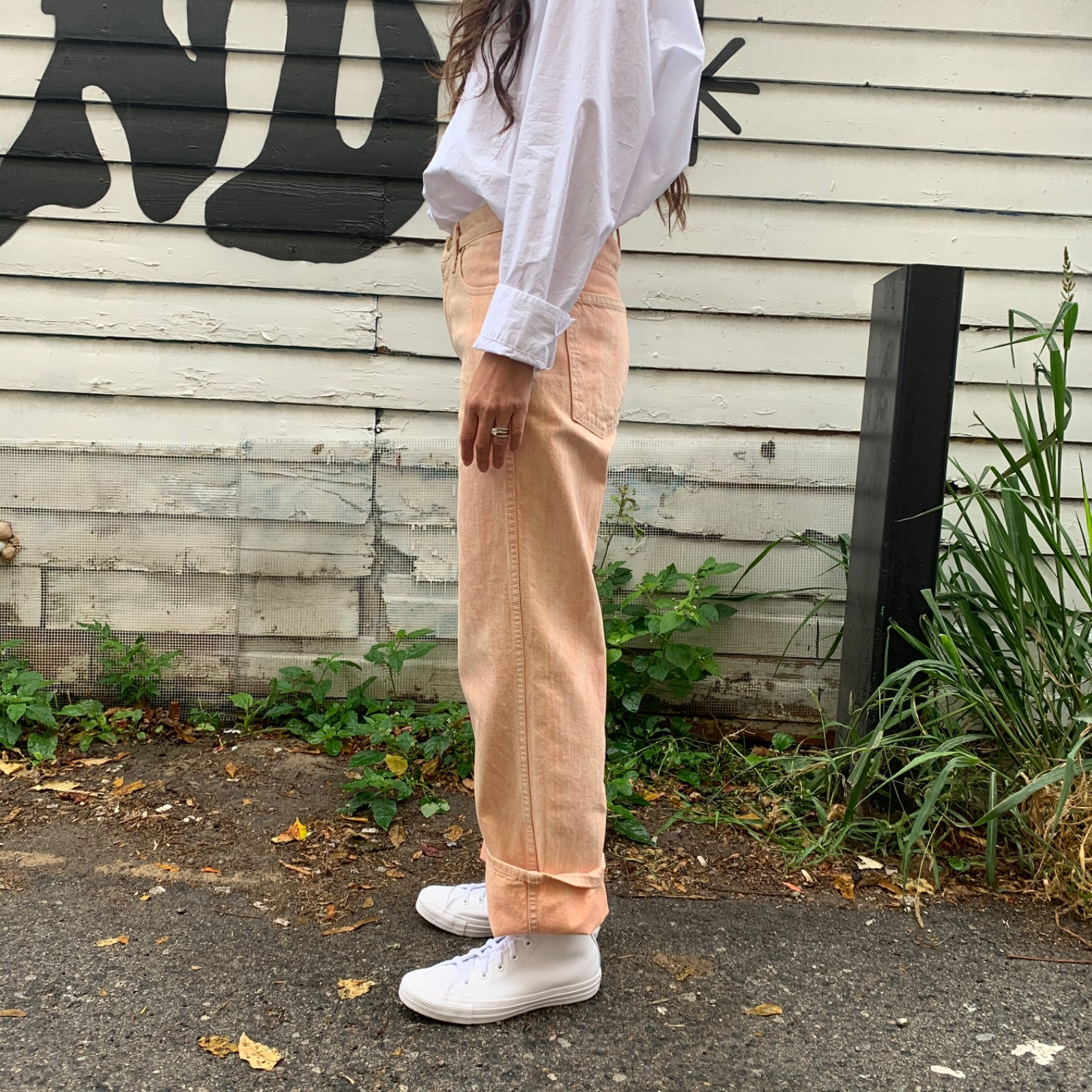 PLEIN HIGH STRAIGHT JEAN | WATERCOLOUR PINK