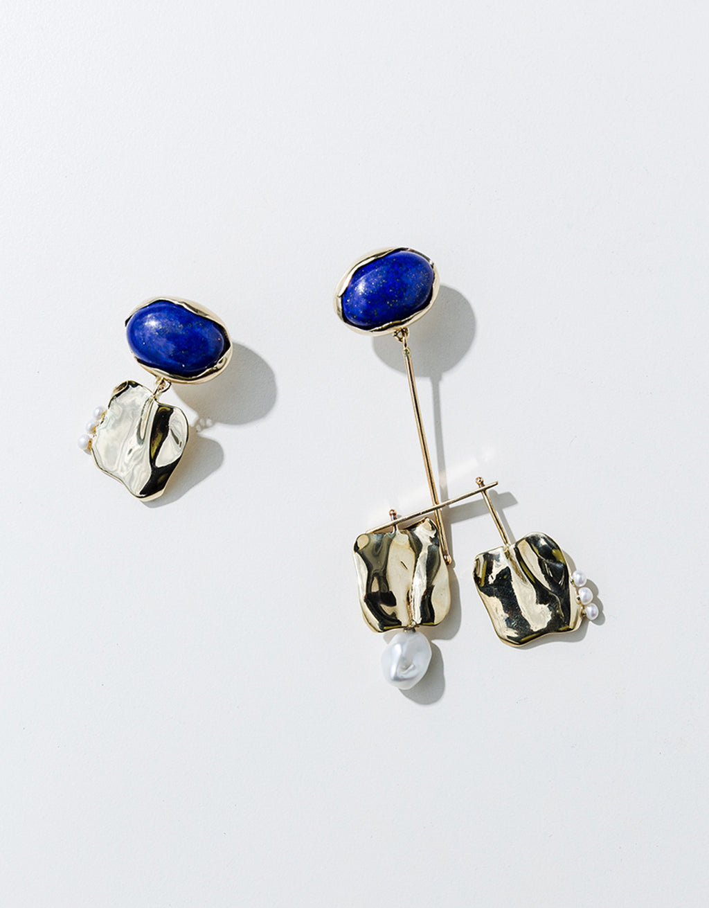 Faris silver and blue stone Badoula Earrings. Available at FAWN Toronto.