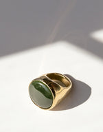 Load image into Gallery viewer, Faris bronze and jade BAM Ring. Available at FAWN Toronto.