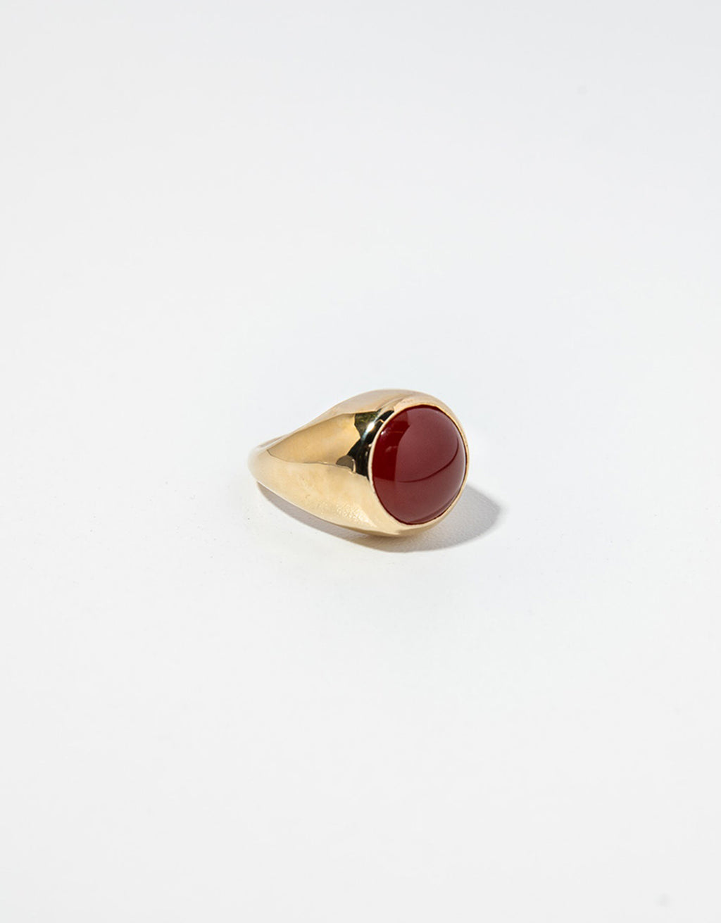 Faris bronze and carnelian BAMini Ring. Available at FAWN Toronto.