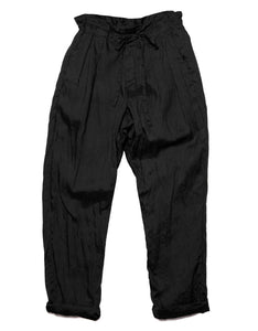 Monitaly Drop Crotch Linen pant in Black. Available at FAWN Toronto.