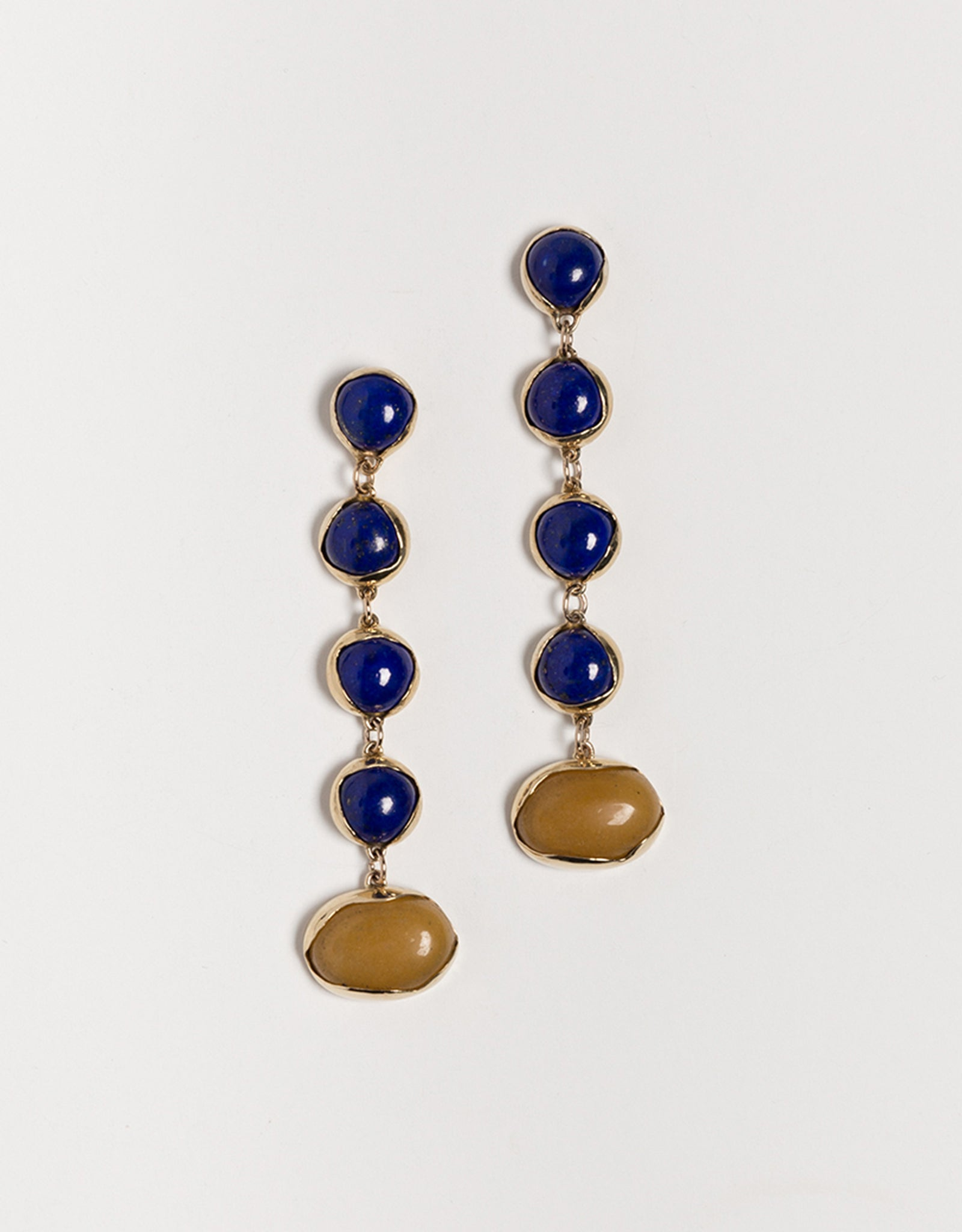 Faris dangling Festa Lapis Earrings. Available at FAWN Toronto.