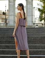 Load image into Gallery viewer, Model wears Correll Correll Olka Skirt in Lilac, back. Available at FAWN Toronto.