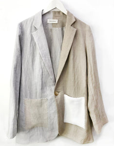 Correll Correll Knit Patch Blazer in Natural. Available at FAWN Toronto.