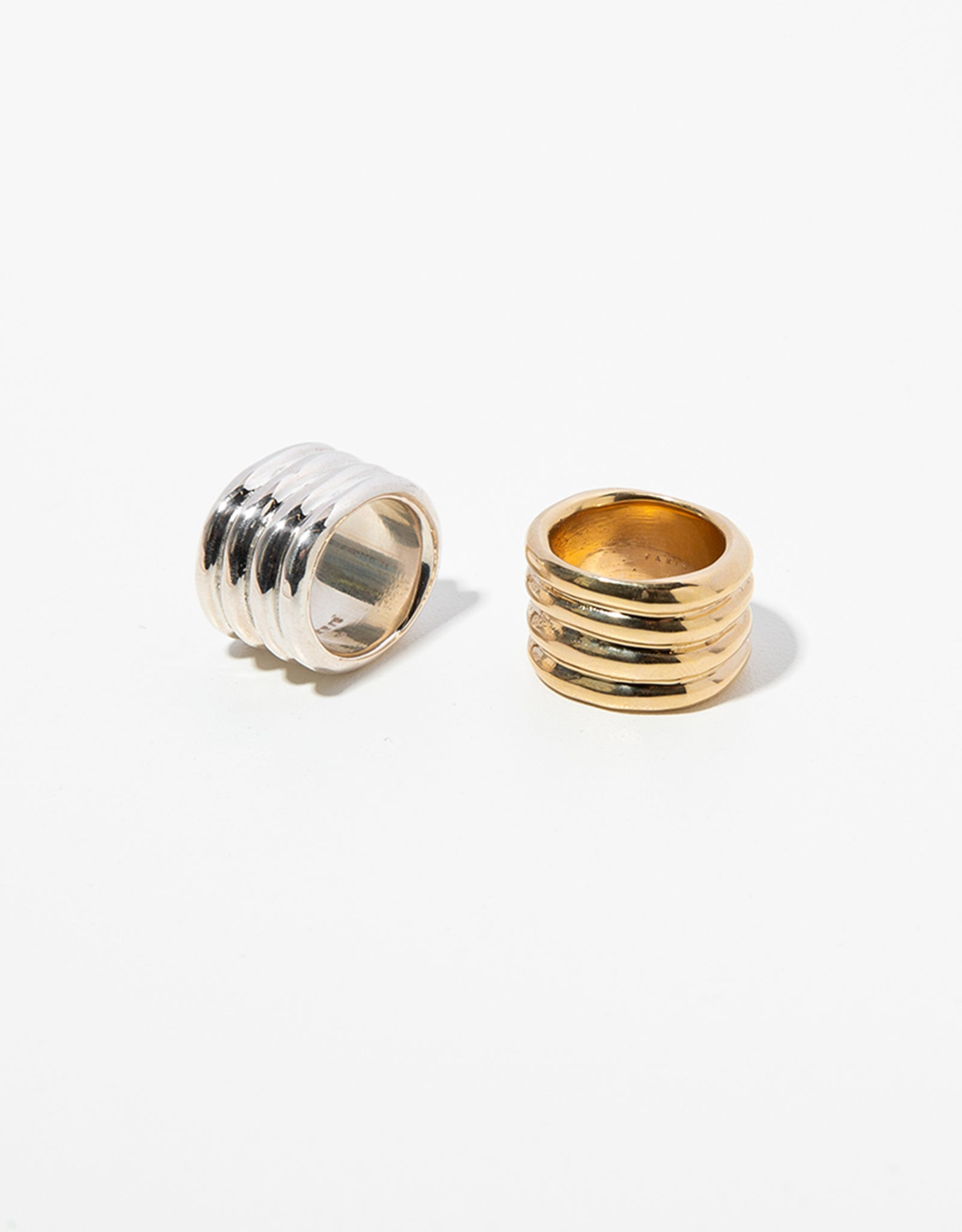 Faris sterling silver, and bronze Stack Ring. Available at FAWN Toronto.
