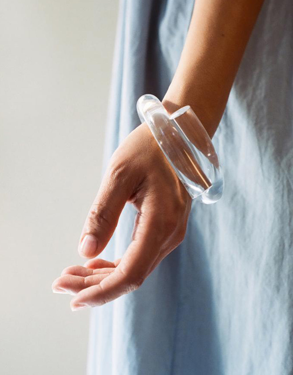 Clear Thick Knot Bracelet by Corey Moranis on model. Available at FAWN Toronto.