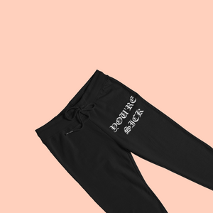 Black You're Sick Joggers white print