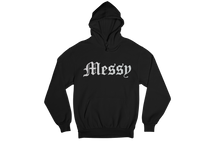 Load image into Gallery viewer, Messy Hoodie (Black) Holographic Logo