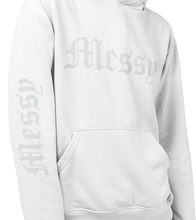 Load image into Gallery viewer, Messy Hoodie (White) Holographic Logo