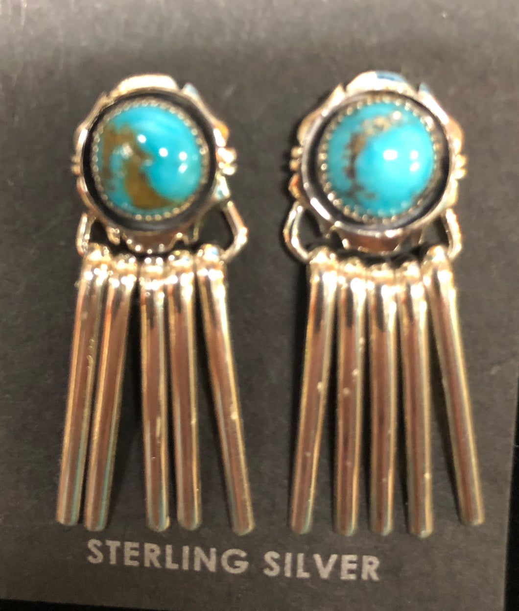 Turquoise dangle post earring