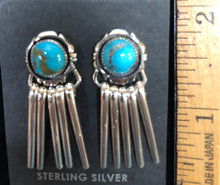 Load image into Gallery viewer, Turquoise dangle post earring