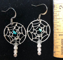 Load image into Gallery viewer, Dreamcatcher french wire earrings