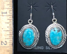 Load image into Gallery viewer, Turquoise set in sterling silver earrings