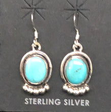 Load image into Gallery viewer, Turquoise and sterling silver earrings