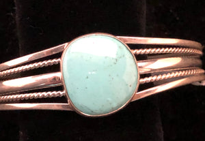Turquoise sterling silver cuff bracelet