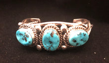 Load image into Gallery viewer, Turquoise sterling silver Squash Blossom Set