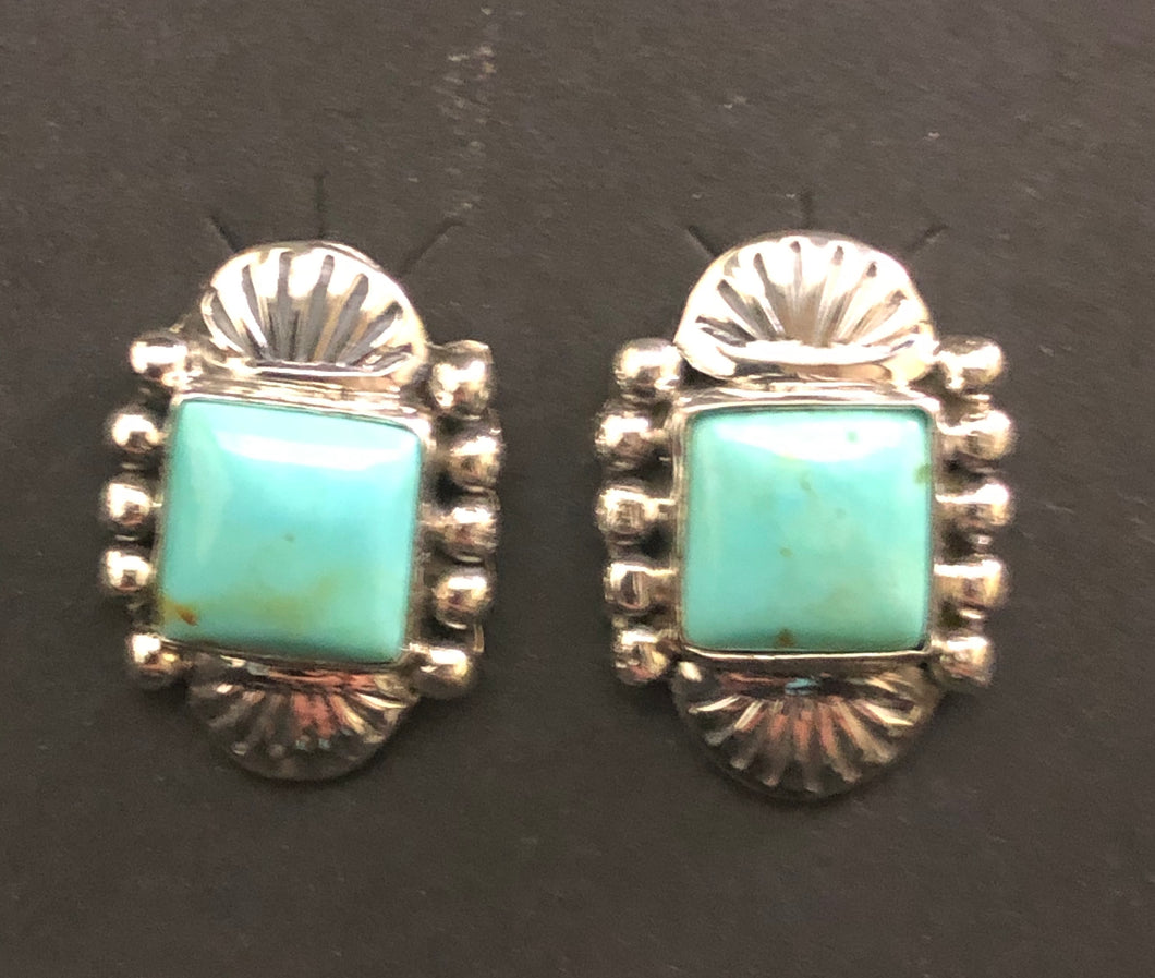 Turquoise sterling silver earring