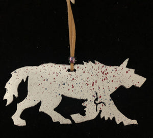 """Wolf"" Christmas ornament"