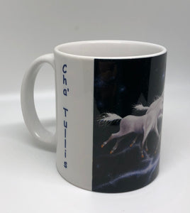 """Ghost Pony Flight"" coffee mug"