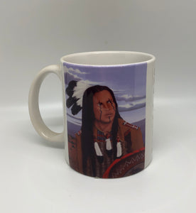 """Sky Watcher"" ceramic art coffee mug"