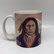 "Load image into Gallery viewer, ""Shaman's Mark"" ceramic art coffee mug"