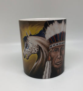 """War Ponie"" ceramic art coffee mug"