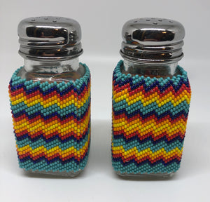 Beaded salt & pepper shakers
