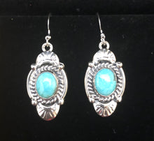 Load image into Gallery viewer, Turquoise sterling silver earrings