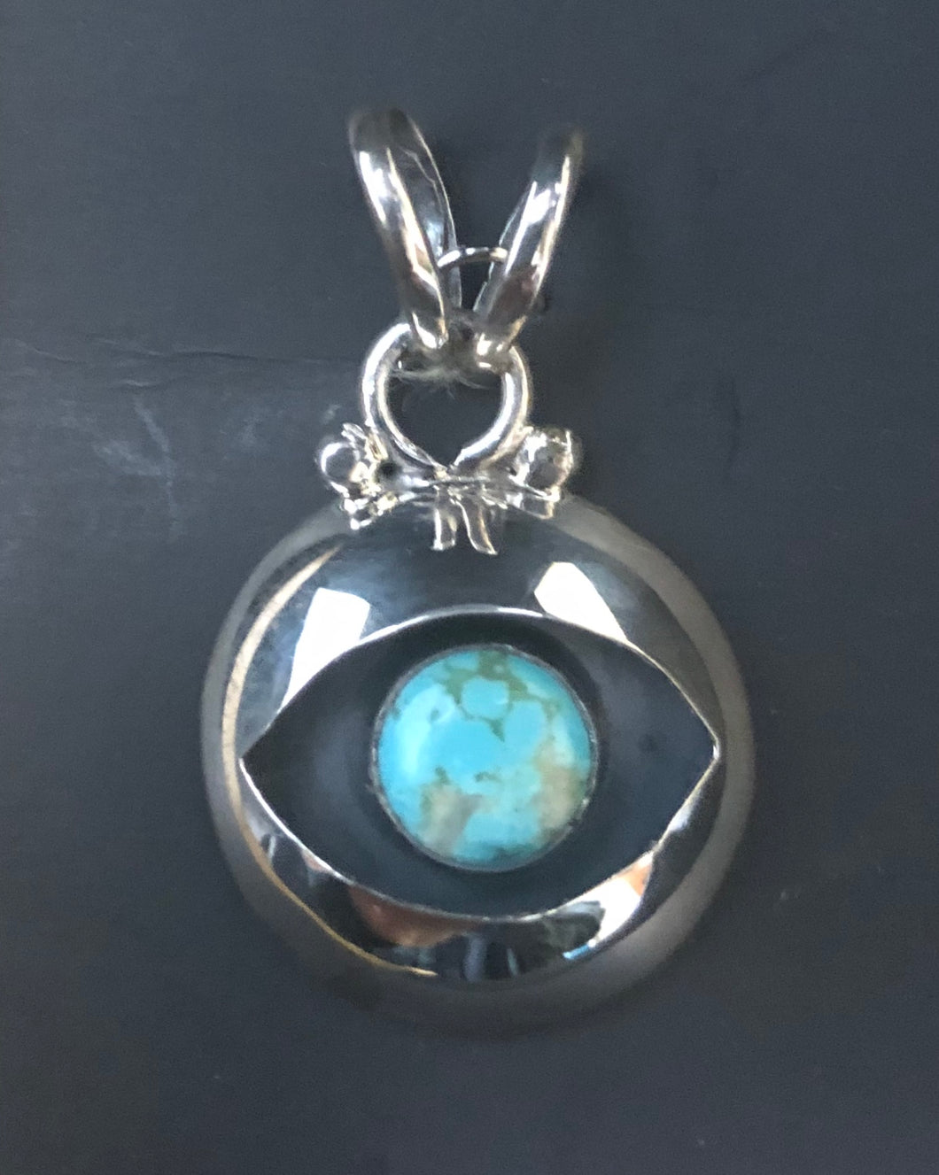 Turquoise sterling silver necklace pendant