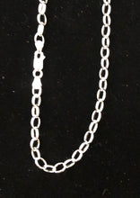 Load image into Gallery viewer, Sterling silver Oval Belcher sterling silver chain