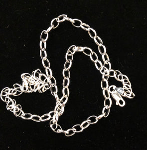 Sterling silver Oval Belcher sterling silver chain