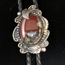 Load image into Gallery viewer, Bloodstone sterling silver bolo