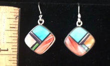 Load image into Gallery viewer, Multi stone sterling silver earrings