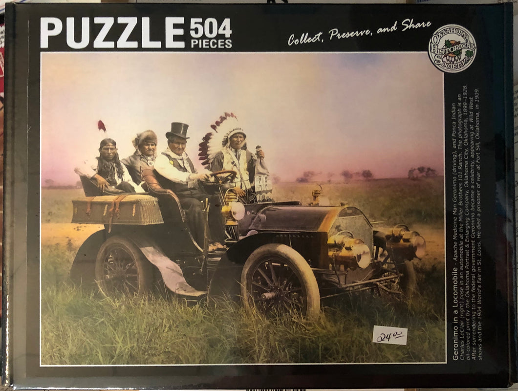 Puzzle of Geronimo in a Locomobile at the 101 Ranch