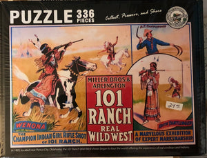 Puzzle of 101 Ranch Real Wild West poster
