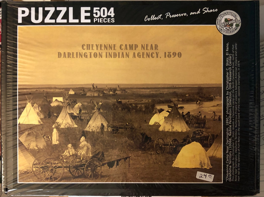 Puzzle of Cheyenne Camp Near Darlington Indian Agency, 1890