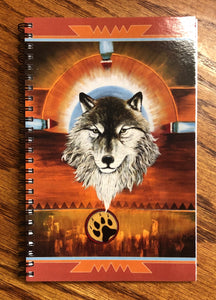 Wolf print journal notebook