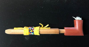 Red Elbow Pipe with beaded stem
