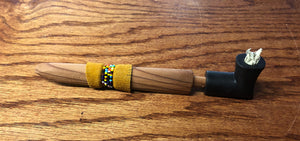 Black Elbow Pipe with beaded stem